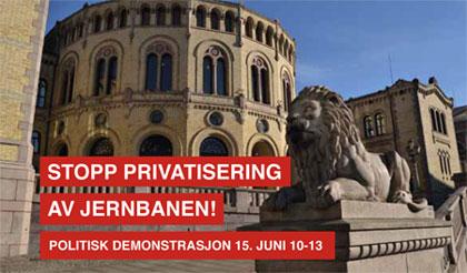 Bile av Stortinget som skal hastebehandle jernbanereformen 15. juni 2015. Foto.