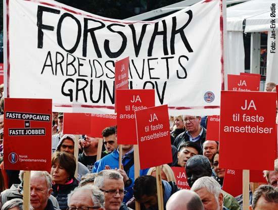 Bilde fra tidligere demonstrasjon.