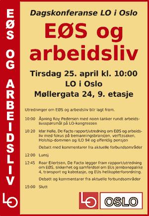 Invitasjon til konferanse om EØS og arbeidsliv.