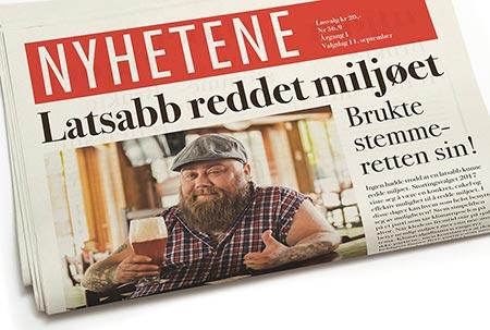 Bilde av avisforside.