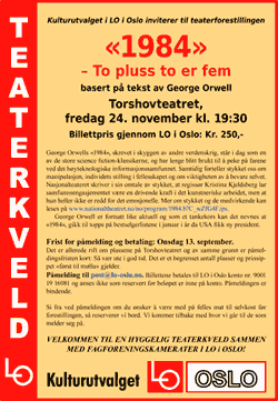 Plakat for teaterkveld.