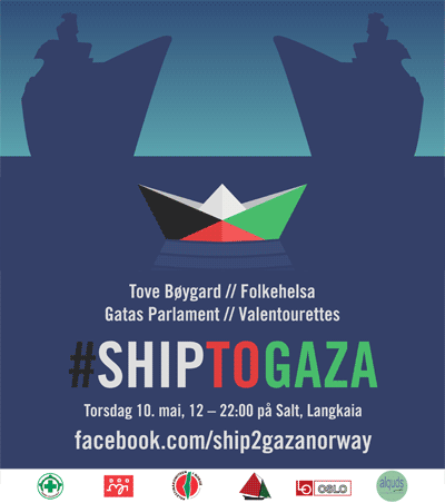Plakat for Ship to Gaza-arrangement.