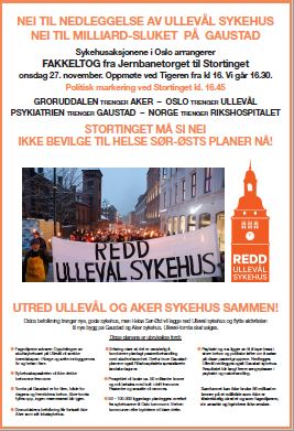 Plakat for fakkeltog.
