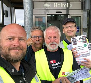 Bilde av forsiden på hefte med noen av spørsmålene LO i Oslo har stilt til de politiske partiene i Oslo med partienes svar.